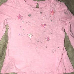 Cute girls long sleeve sparkly shirt